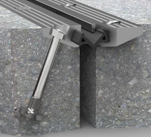 junta de dilatación de caucho / de aluminio / para la construcción de puentes / impermeable
