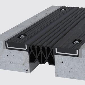 junta de dilatación de caucho / de acero / para la construcción de puentes / para aparcamiento