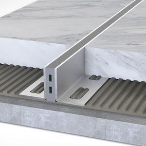 junta de dilatación de elastómero / de aluminio / para forjado / para edificios