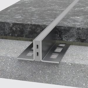 junta de dilatación de acero inoxidable / para forjado / para peatones