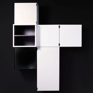 estantería mural / modular / contemporánea / de MDF lacado