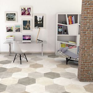 baldosa de terracota de interior / para suelo / de gres porcelánico / de color liso