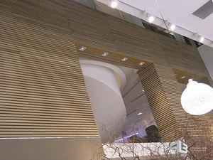 fachaleta de madera / interior / ranurada / de absorción acústica
