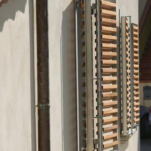 contraventanas abatibles / de madera / de metal / para ventanas