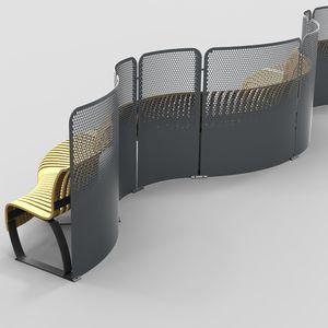 separador de espacios de acero con revestimiento en polvo