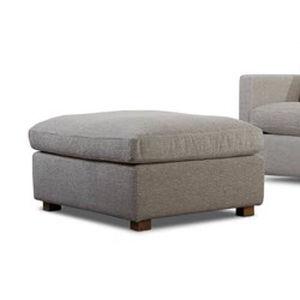 otomana contemporánea / de tejido / tapizada / de interior