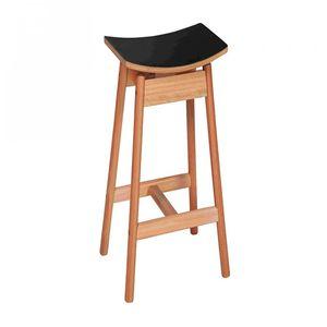 taburete de bar contemporáneo / de madera / de exterior