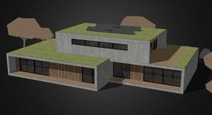 edificio pasivo / prefabricado / de madera / estructura de madera