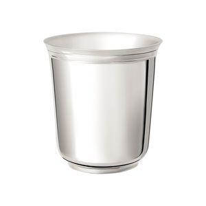 taza de metal plateado