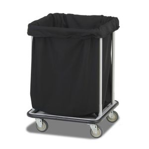 carrito de lavandería / para hotel / de acero