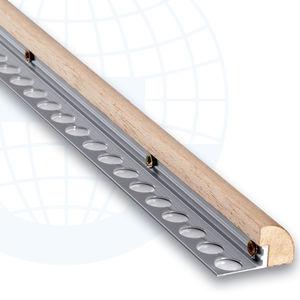 perfil de acabado de madera / de aluminio / para baldosas / cuarto de círculo