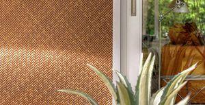 revestimiento de pared de fibras sintéticas / de paja sintética / para uso residencial / aspecto madera