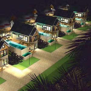 edificio prefabricado / de madera laminada encolada / para uso residencial / contemporáneo