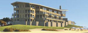 edificio prefabricado / de madera laminada encolada / para hotel / contemporáneo