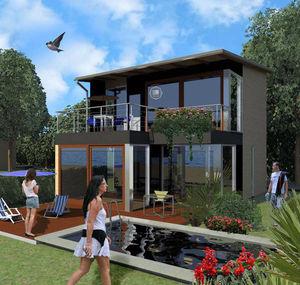 edificio prefabricado / de madera laminada encolada / para hotel / para uso residencial