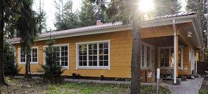 edificio prefabricado / de madera laminada encolada / estructura de madera / para centro sanitario