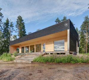 casa tipo / contemporánea / de madera laminada encolada / ecológica