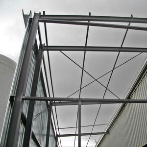 tijeral metálico para construcciones industriales / de acero galvanizado / espacial