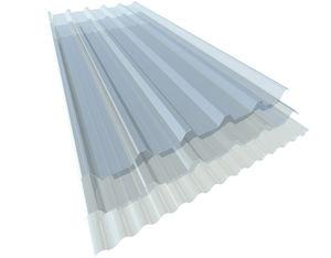 panel de policarbonato ondulado / para techado / para revestimiento / translúcido