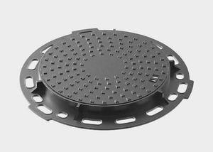 tapadera de inspección de hierro fundido / redonda