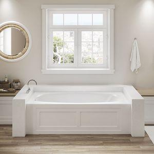bañera de fibra acrílica / hidromasaje
