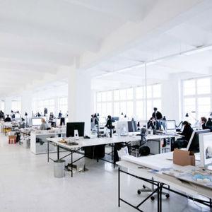 mesa de trabajo contemporánea / de madera / de linóleo / rectangular