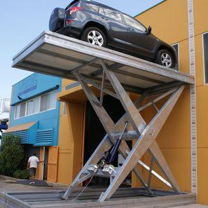 plataforma para coches hidráulica