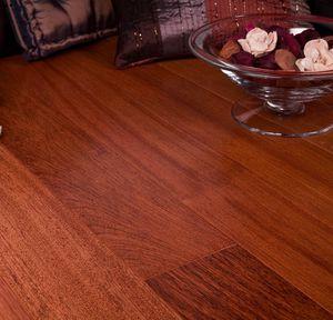 parquet macizo / para pegar / de madera exótica / barnizado