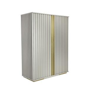 armario contemporáneo / de madera lacada / con puertas batientes / con cajones