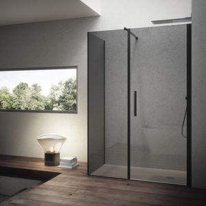 cabina de ducha de obra / de vidrio / para ducha empotrada / con puerta batiente