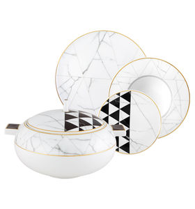 servicio de mesa de porcelana