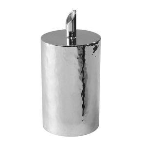 azucarero de metal plateado