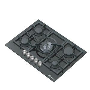 placa de cocina de vitrocerámica / de gas / de hierro fundido / con parrilla