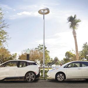 estación de recarga para coche eléctrico