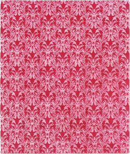 alfombra clásica / con motivos adamascados / de seda / de lana del Tíbet