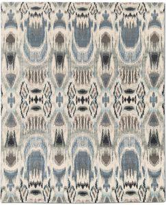 alfombra clásica / con motivos adamascados / de lana del Tíbet / rectangular