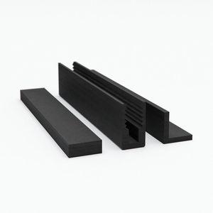 perfil junta / de caucho / de elastómero / en U