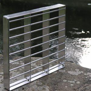 tarima de acero inoxidable / para pasarela / para pasarela industrial / para pavimento de exterior