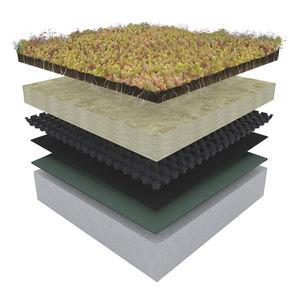 sistema de cubierta vegetal para tejado extensivo