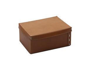 caja de almacenamiento de cuero / con tapa