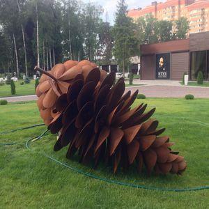 escultura de acero Corten / para espacio público / para edificio público / para restaurante