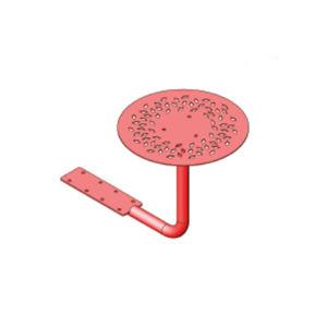 mesa de pícnic contemporánea / de acero con revestimiento en polvo / con base de acero termolacado / redonda