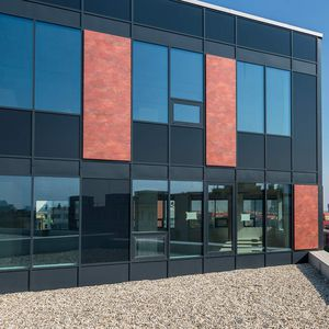 revestimiento de fachada de paneles / de aluminio / de material compuesto / patinado