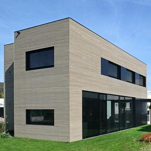 revestimiento de fachada en láminas / de aluminio / de material compuesto / acabado natural
