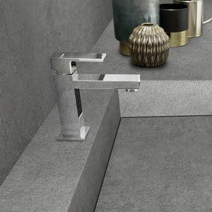 grifo monomando para lavabo / en encimera / de metal cromado / de baño