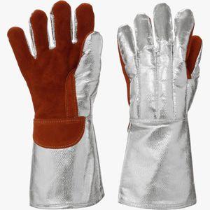 guante de protección térmica / de tejido / aluminio