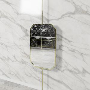 espejo de techo / contemporáneo / octogonal / de níquel