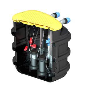 tanque enterrado / para tratamiento de aguas residuales / de polietileno / de PVC
