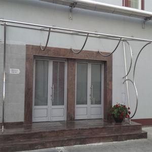 marquesina para puerta / de acero inoxidable / para el sector servicios