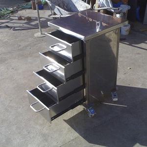 carrito de servicio / para el sector servicios / refrigerado / de acero inoxidable
